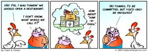 Pig and Chicken Cartoon
