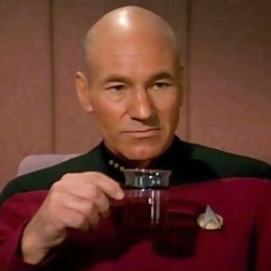 Sir Patrick Stewart as Jean-Luc Picard in Star Trek: The Next Generation